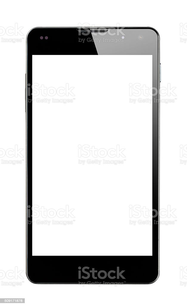 Front view Smartphone isolated stock photo