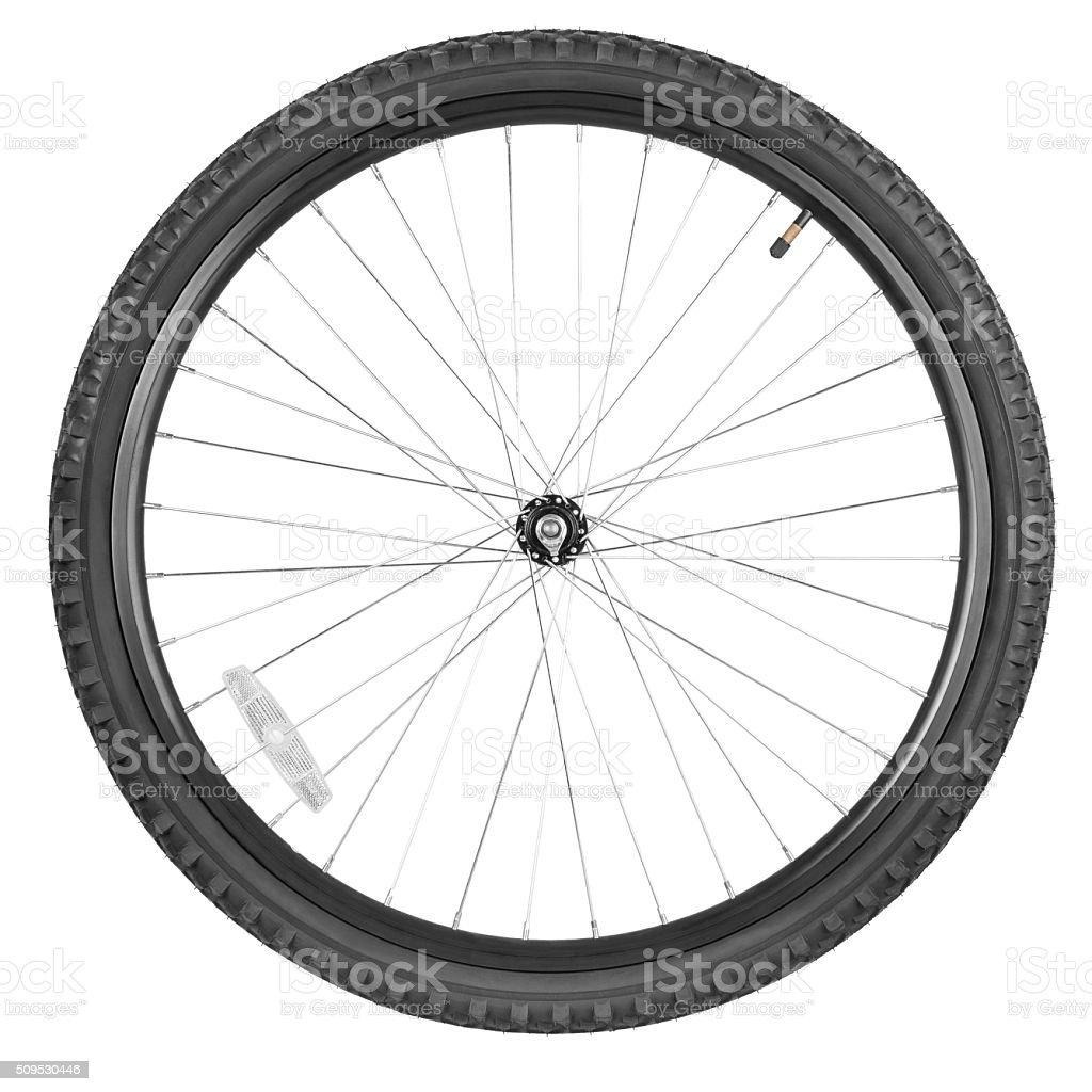 Front wheel mountain bike stock photo