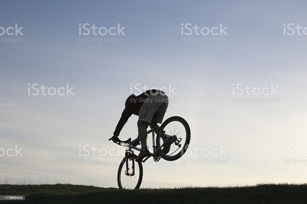 Front wheel ride royalty-free stock photo