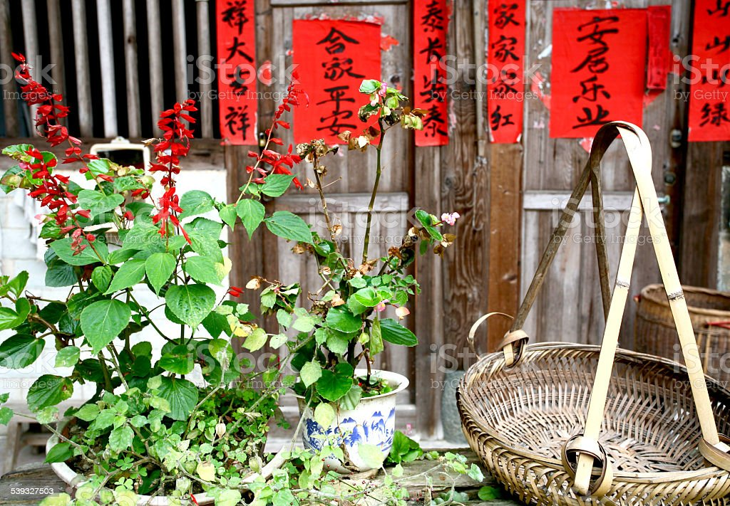Front Yard of Traditional Chinese House stock photo