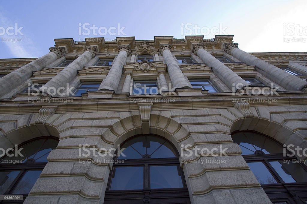 Frontage of a Majestic Building stock photo