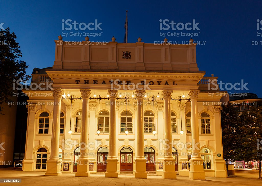 Frontage of the Theatre Royal. In Nottingham, England. stock photo