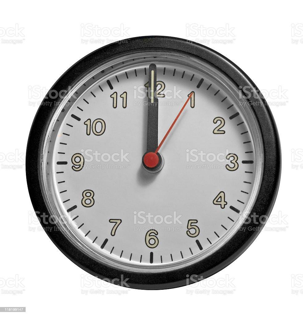 frontal clock face royalty-free stock photo