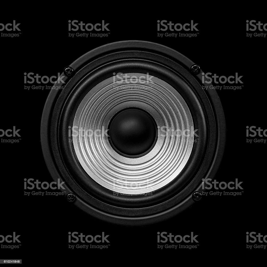 Frontal image  audio speaker stock photo