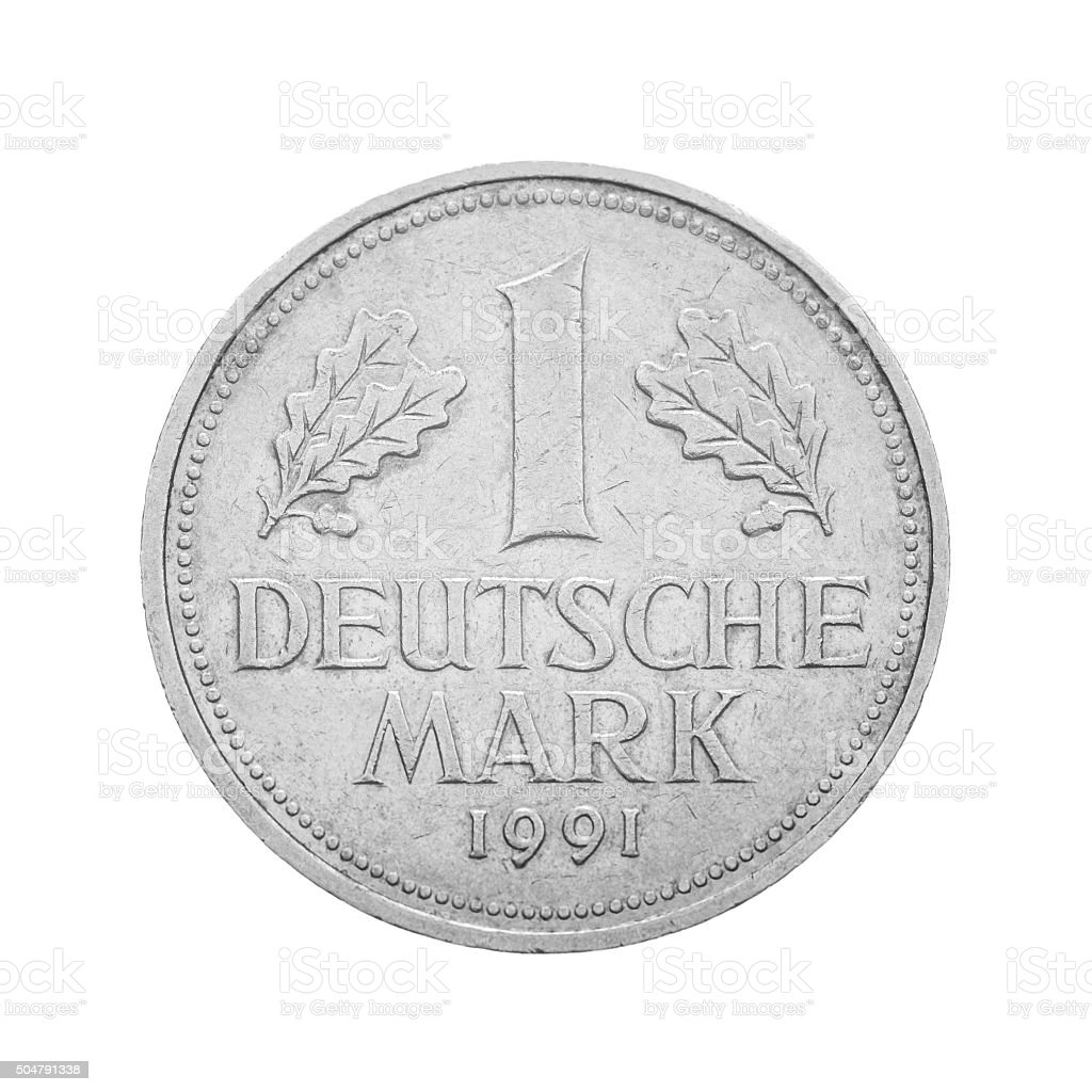 Frontal view of the obverse Deutsche Mark stock photo