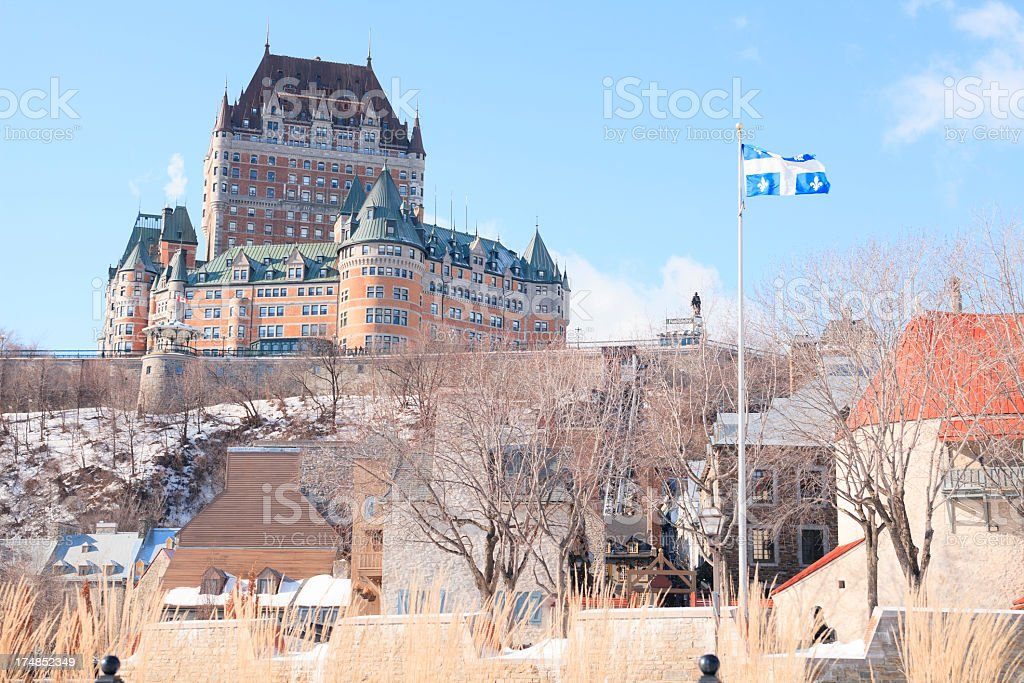 Château Frontenac royalty-free stock photo