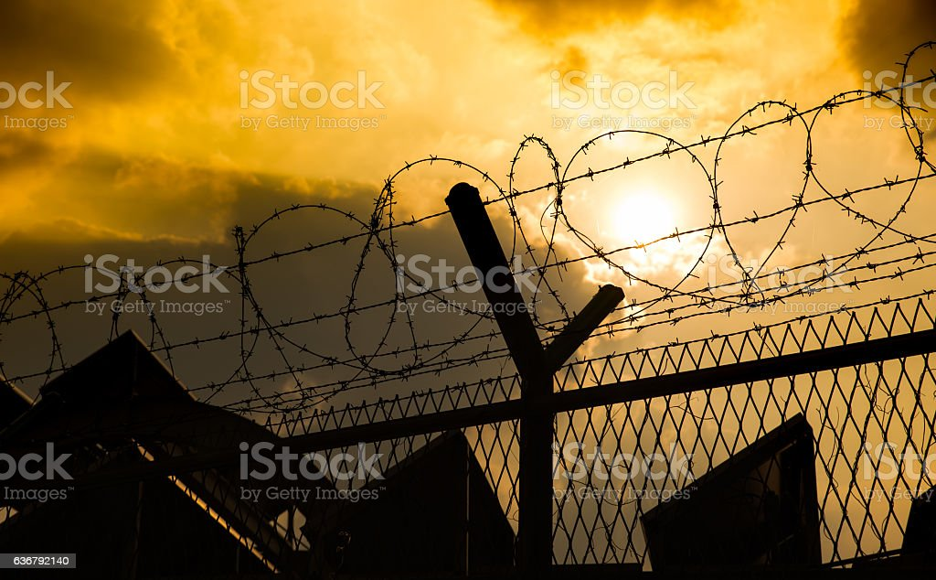 Frontier, After war stock photo