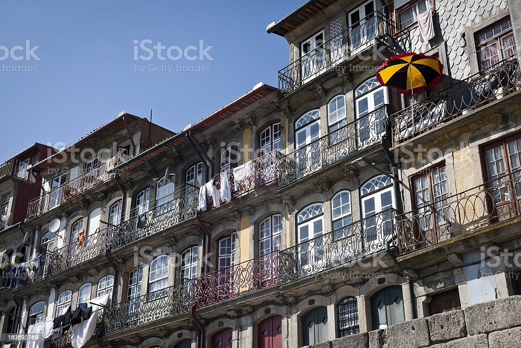 Fronts of the Ribeira stock photo