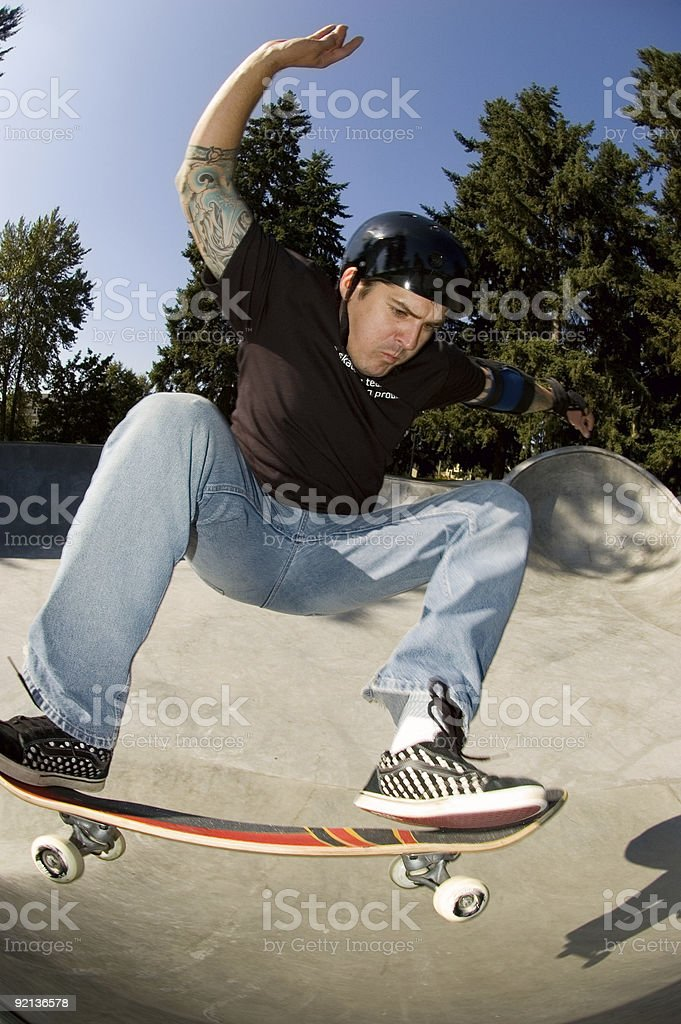 Frontside Air over the Hip royalty-free stock photo
