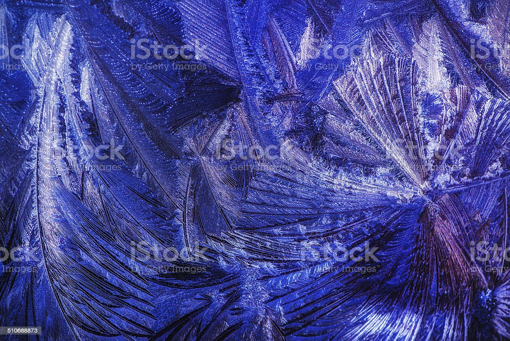 Frost - Close up Macro stock photo