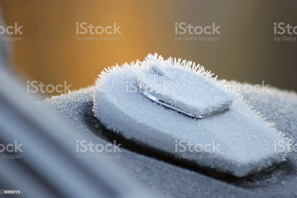 Frost on Motorcycle royalty-free stock photo