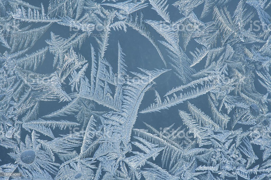 Frost on Window royalty-free stock photo