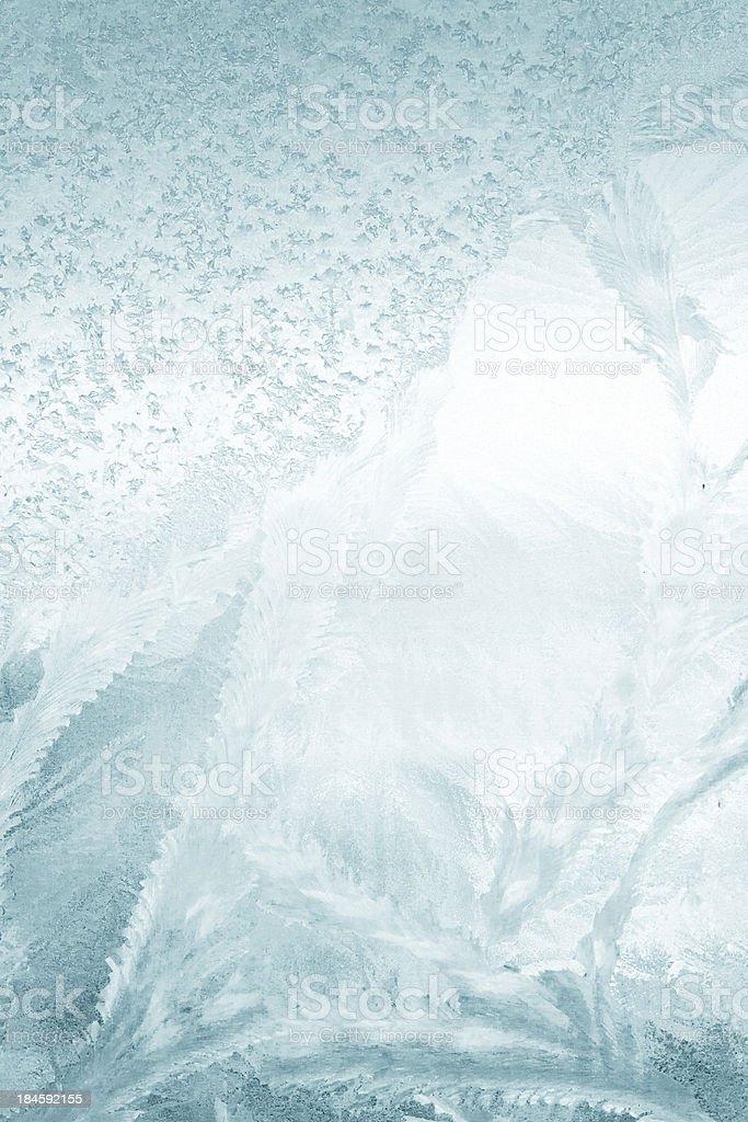 Frost on window stock photo
