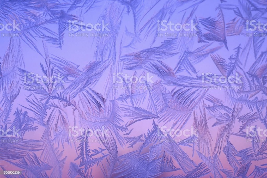 Frost on window stock photo