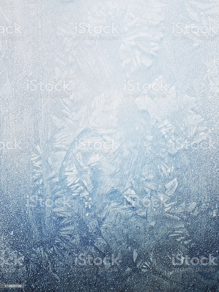 Frost on winter window royalty-free stock photo