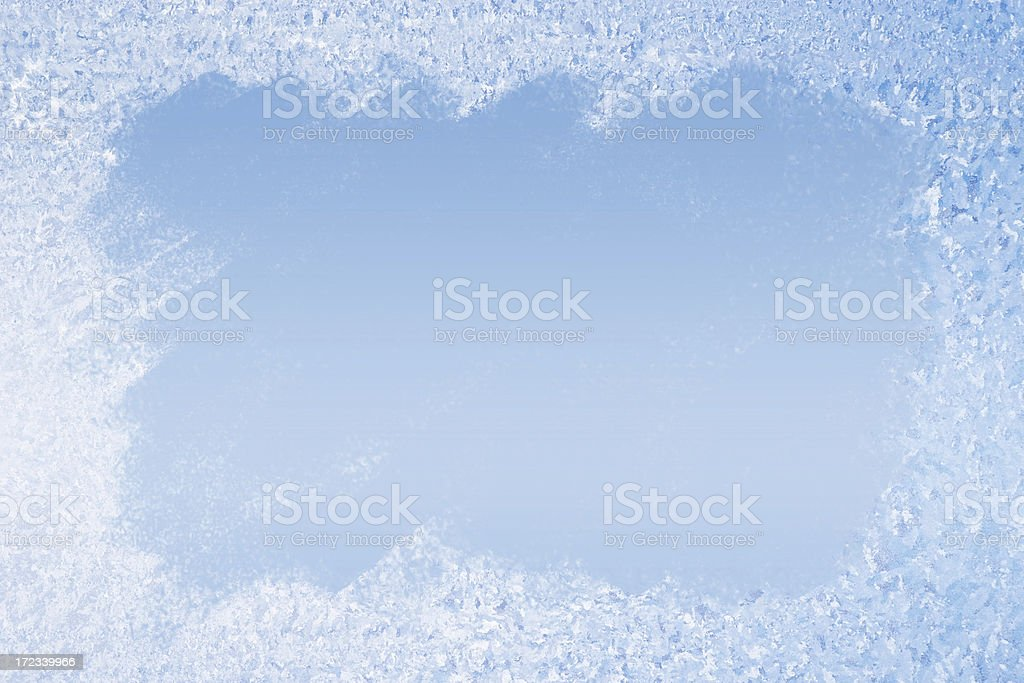 Frost Pattern Background royalty-free stock photo