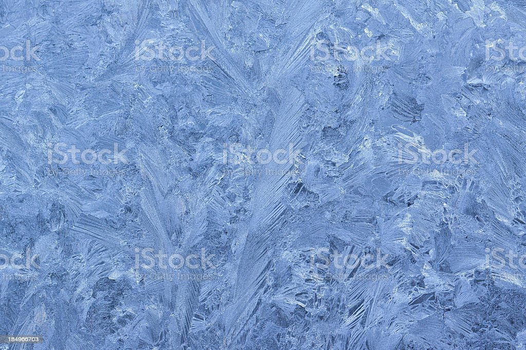 Frost pattern on a window royalty-free stock photo