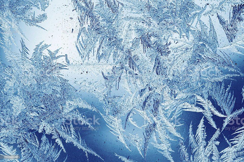 Frost pattern on window royalty-free stock photo