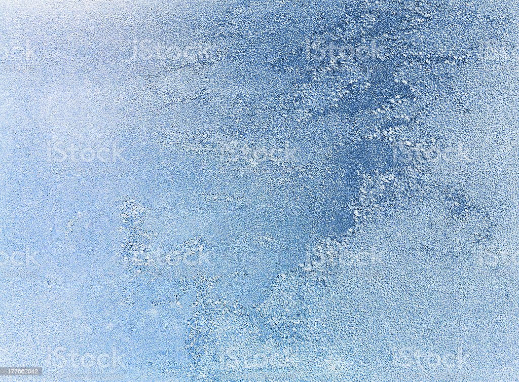Frost Patterns On Window Fantasy Looking stock photo