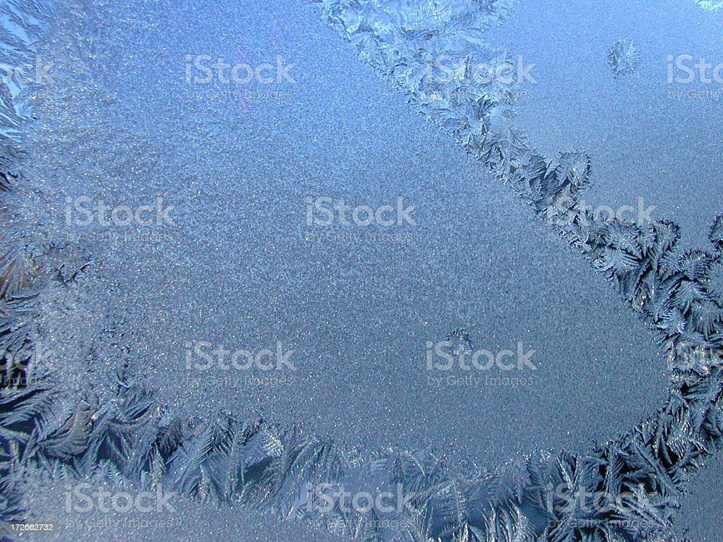 Frost patterns royalty-free stock photo