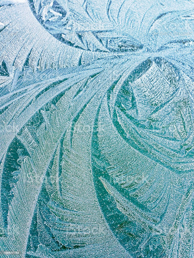 Frost with beautiful shapes stock photo