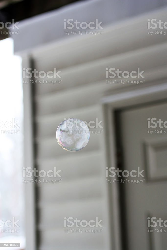frosted bubble during Jonas snow storm winter January 2016 stock photo