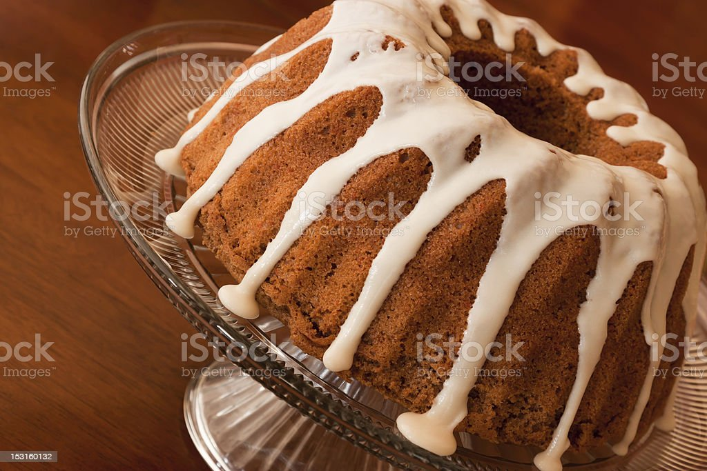 Frosted Carrot Cake stock photo