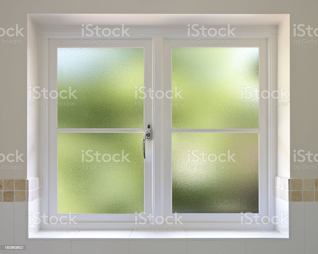 frosted glass windows stock photo
