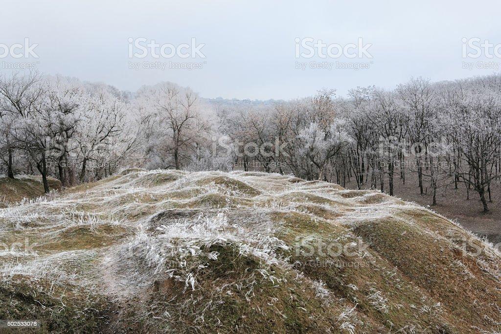Frosted mañana hill II foto de stock libre de derechos