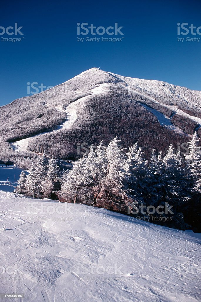 Frosted Mountain stock photo