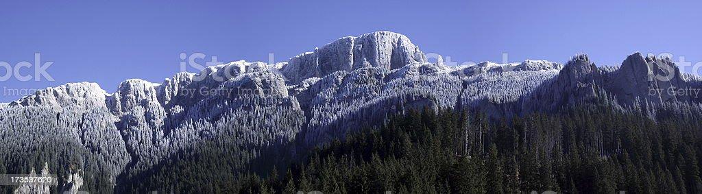 frosted mountain ridge royalty-free stock photo