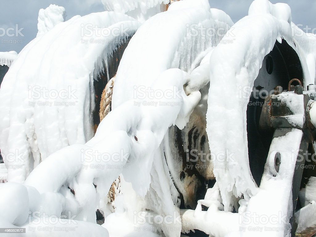 Frosted Ship stock photo