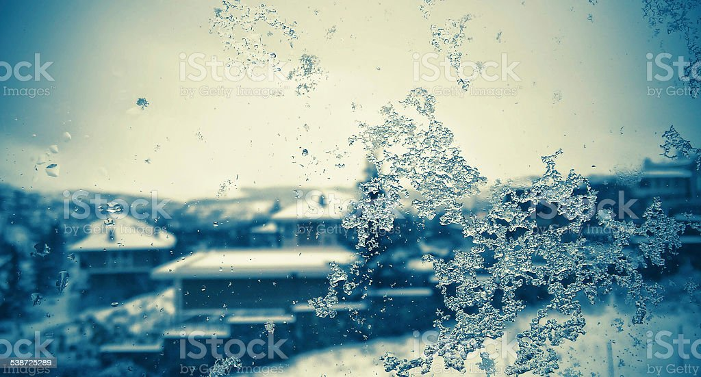Frosted Window Glass stock photo