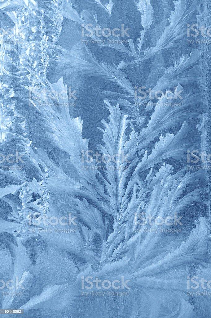 Frosty background on window royalty-free stock photo