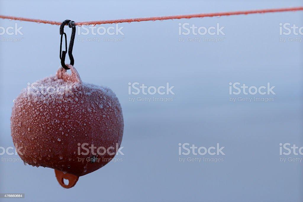Frosty buoy royalty-free stock photo
