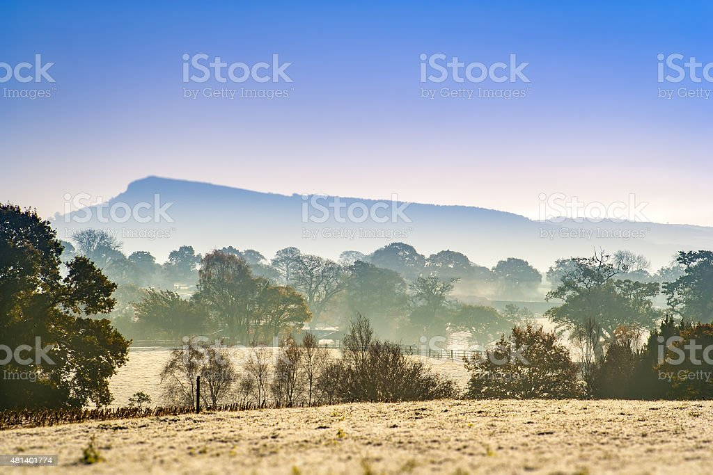 Frosty Cheshire Morning stock photo