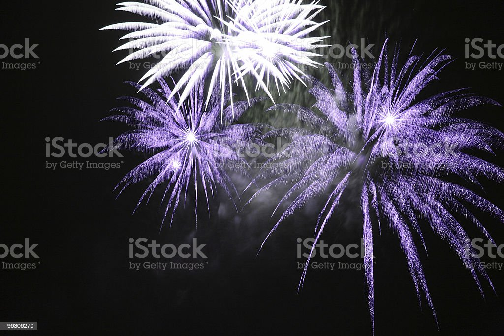 Frosty Fireworks stock photo