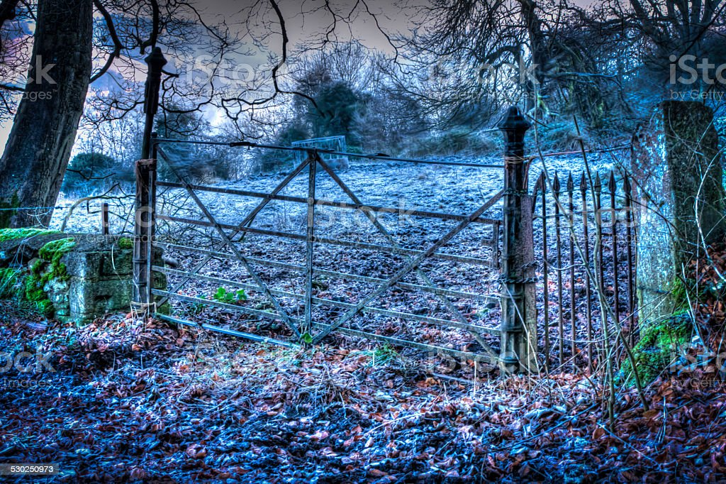 Frosty Gateway To The Cotswolds stock photo