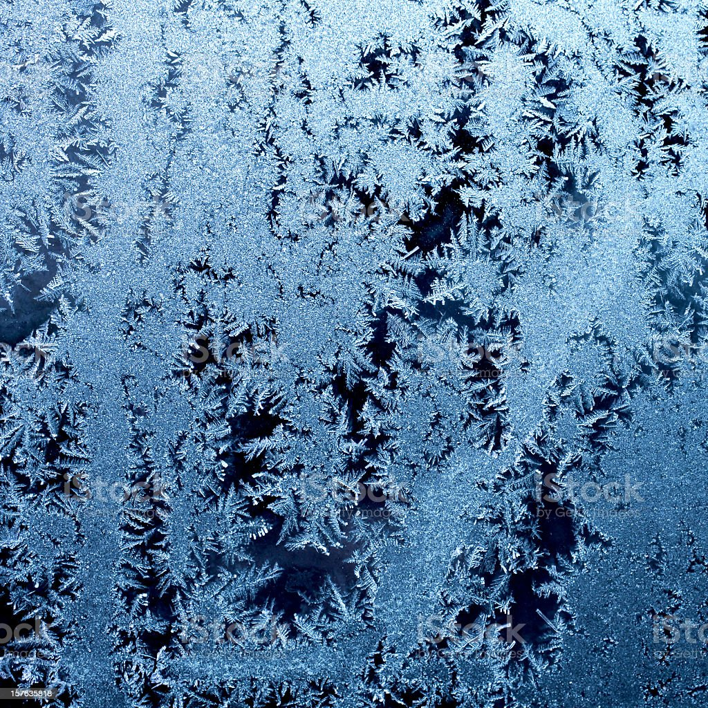 Frosty ice crystals royalty-free stock photo