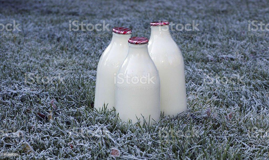 Frosty milk stock photo