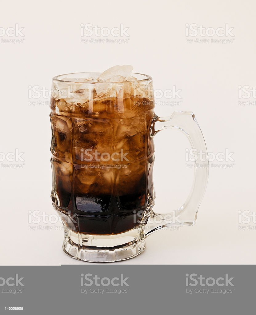 Frosty mug of rootbeer stock photo