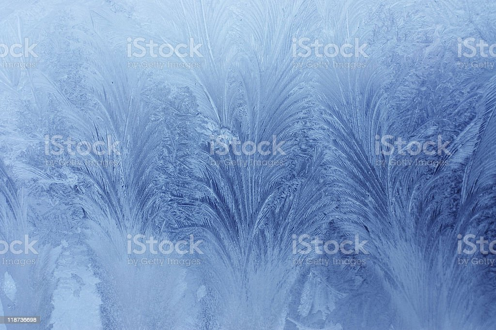 frosty natural pattern on winter window royalty-free stock photo