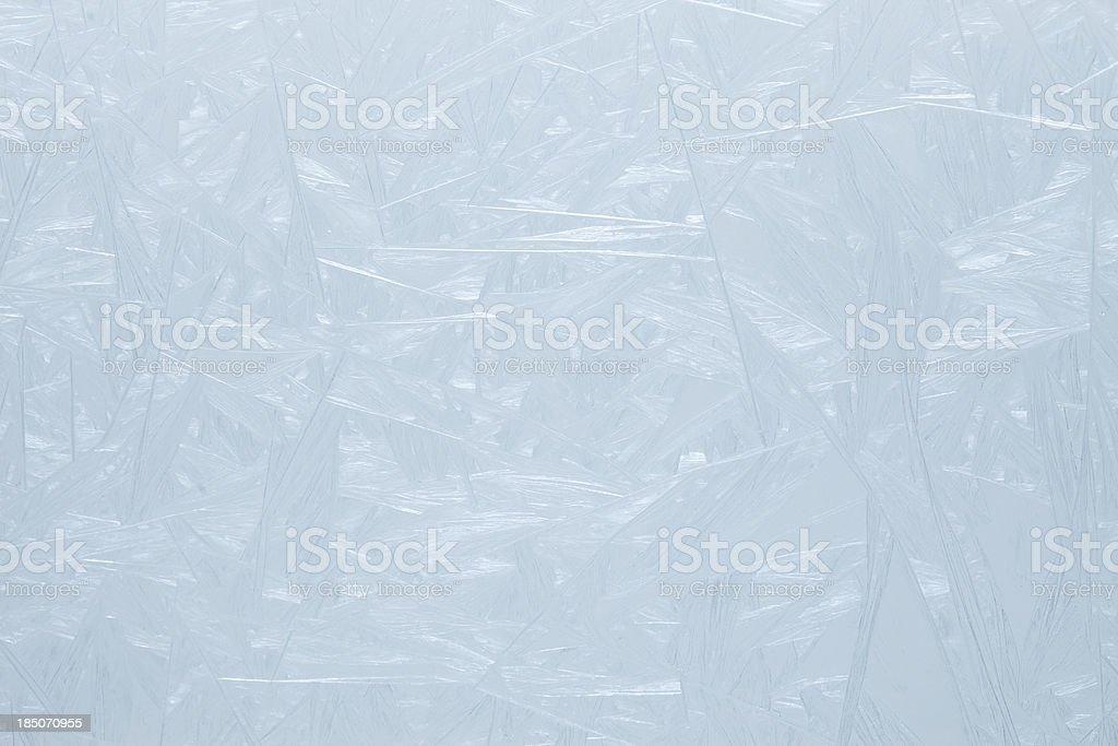 Frosty pattern on the glass. royalty-free stock photo