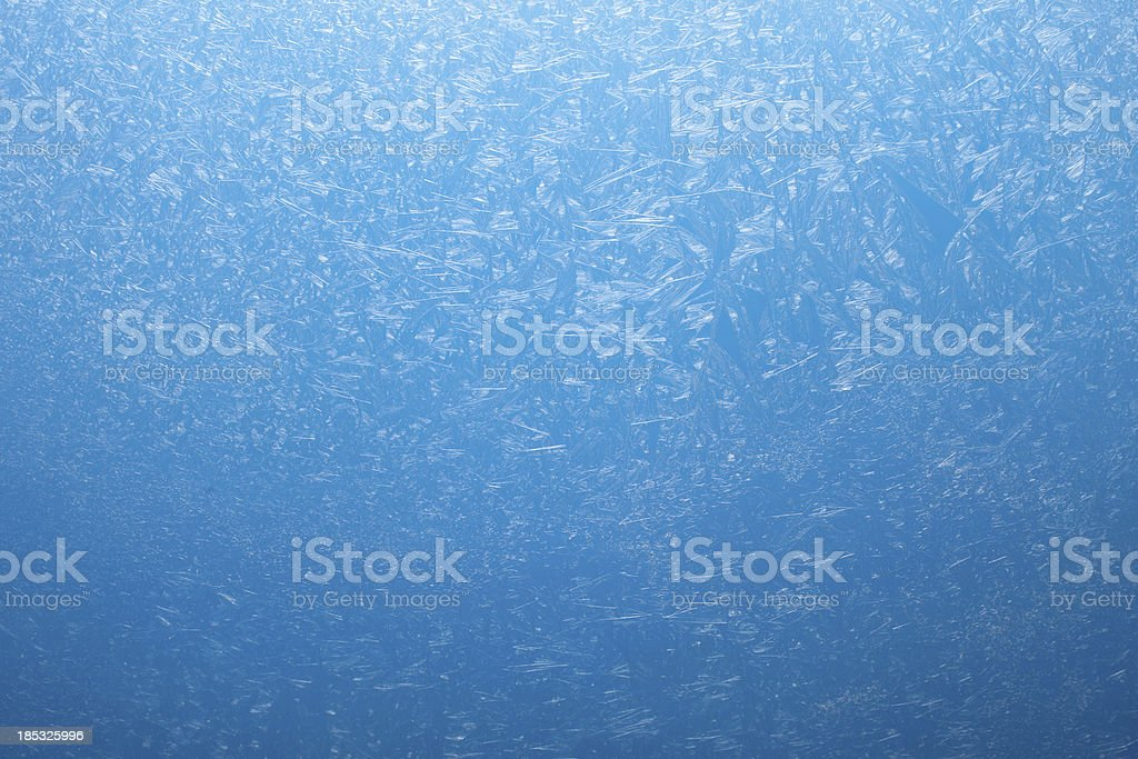 Frosty pattern on the glass. stock photo