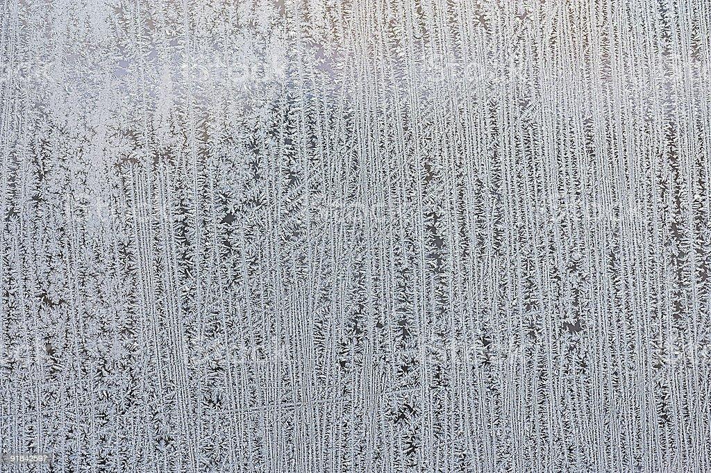 frosty patterns on glass royalty-free stock photo