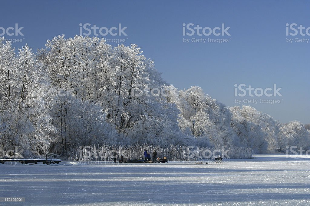 Frosty Picnic royalty-free stock photo