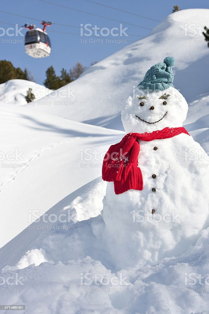 Frosty the snowman stock photo