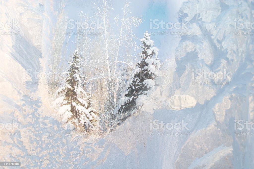 Frosty window royalty-free stock photo