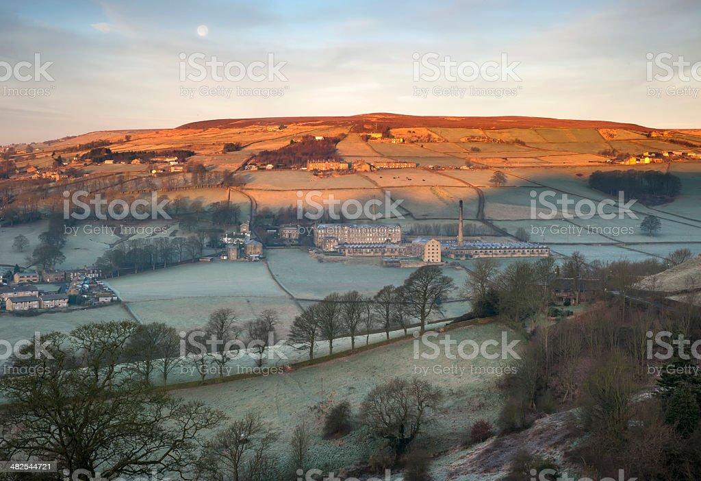 frosty yorkshire morning royalty-free stock photo