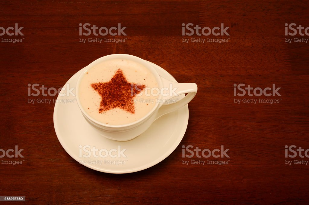 Froth Art with a star stock photo